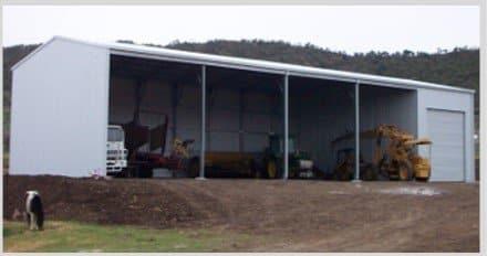 1 bay lock up farm shed